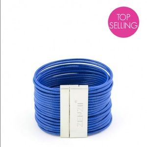 🎉 HP 🥂 Faux Leather Cord Bracelet in Cobalt
